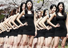 韩国女大学生组成的模特队:大长腿随处可见(组图)/